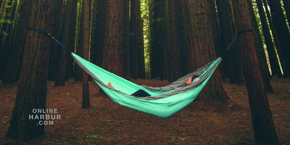 Hammock Camping Double and Single with Tree Straps for Indoor Outdoor Backpacking Survival and Travel