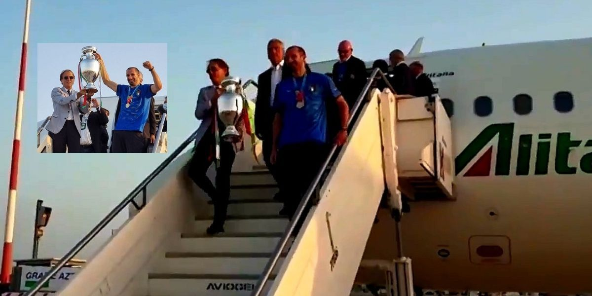 Italy players returned to Rome after winning the Euros 2020
